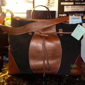 Handbags - TIFFANY & FRED suede/leather shoulder bag NWT